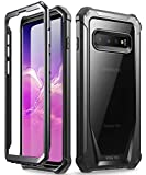 Galaxy S10 Plus Rugged Clear Case, Poetic Full-Body Hybrid Bumper...