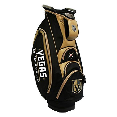 Team Golf NHL Las Vegas Golden Knights Victory Golf Cart Bag, 10-Way Top with Integrated Dual Handle & External Putter Well, Cooler Pocket, Padded Strap, Umbrella Holder & Removable Rain Hood