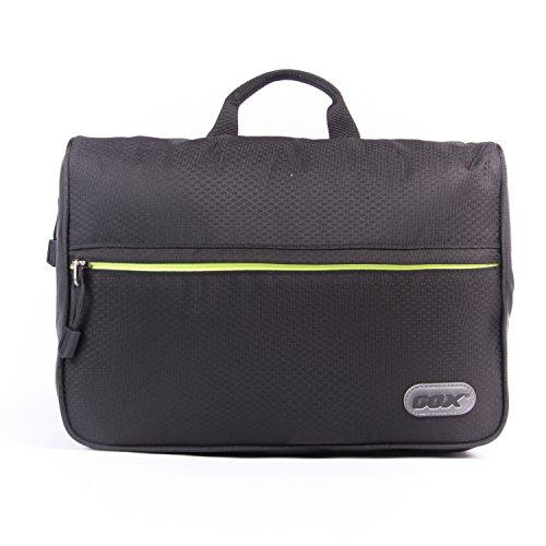 Beauty Case da Viaggio, GOX Premium 420D Nylon Impermeabile Folio portatile fronte Kit Open Design Pacchetto Borsa / Lavanderia / Borsa da Toilette / Organizzatore di Viaggi con gancio / One-Day Pack Bag (Small, Nero)
