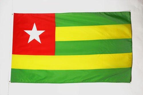 AZ FLAG Flagge Togo 150x90cm - TOGOLESISCHE Fahne 90 x 150 cm - flaggen Top Qualität