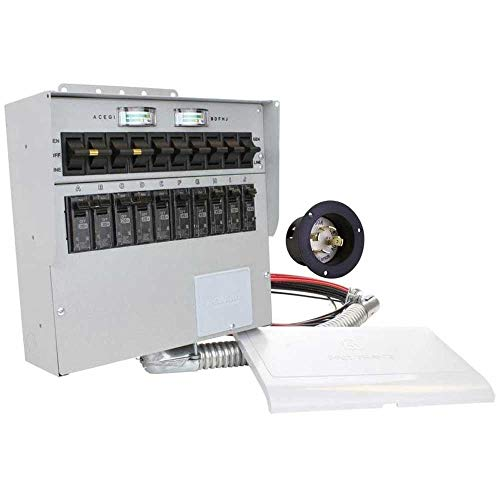 310A Pro Tran2 30-Amp 10-Circuit 2 Manual Transfer Switch with Optional Power Inlet