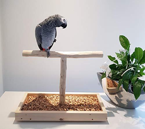 TISCHFREISITZ Freisitz für FENSTERBANK Papageien Freisitz Papageienspielzeug