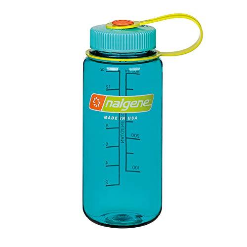 NALGENE ナルゲン 広口 0.5L TRITAN プラスチックボトル 水筒 MADE IN USA(91420 CERULEAN)ジャグキャップ登山 サイズ