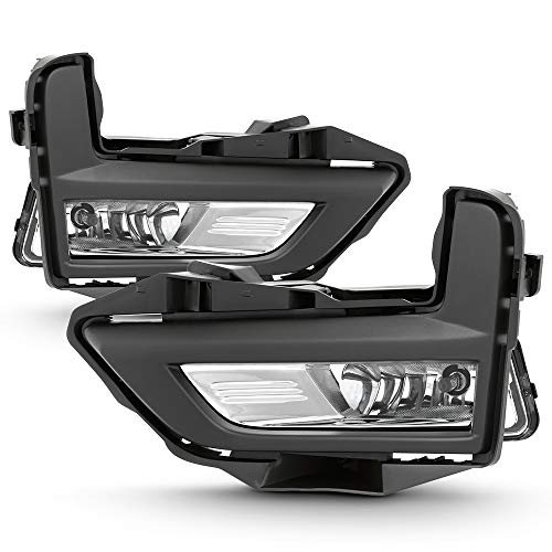 ACANII - For 2017-2018 Nissan Rogue S/SL/SV Bumper Fog Lights Driving Lamps Kit w/Switch Assembly Pair Set Left+Right