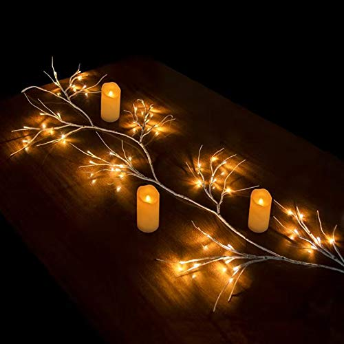 Hypestar Albero Luminoso Decorativo | 144 LED Bianchi Caldi | 180cm Rami Chiari per la Decorazione della Tavola | Timer USB | Decorazione Interna Festa Pasqua Natale (Vite 144 LED USB)