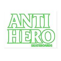 アンチヒーロー (ANTI HERO) BLACKHERO OUTLINE STICKER GREEN スケートボード スケボー