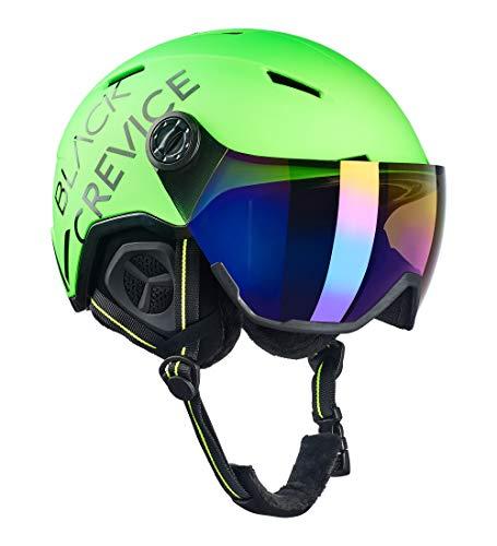 Black Crevice Casco de esquí Unisex para Adultos Vail con Visera, Verde...