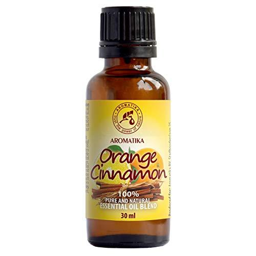 Mezcla de Aceites Esenciales 30ml - Aceite de Canela - Aceite de Naranja - 100% Puros Aceite de Fragancia - para Difusores & Aromaterapia - para Calmar - Belleza - Relajación