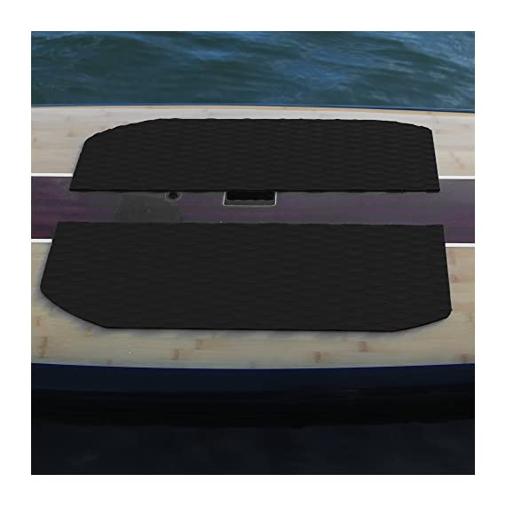 Abahub Non-Slip Traction Pad Deck Grip Mat 30in x 20in Trimmable EVA Sheet 3M Adhesive for Boat Kayak Skimboard… 5 SUPERIOR ANTI-SLIP TRACTION: In 3mm depth diamond grooves, this trimmable EVA pad provides a nice textured surface with excellent grip. CUSTOMIZE TO FIT: In size of 30''x 20'', it's trimmable and versatile. It's perfect for SUP boards, surfboards, boat decks, kayaks, skimboards, swimming pool steps, skateboards and more. PREMIUM QUALITY: Along with the brand new A-grade EVA material, all Abahub traction pads utilize certificated resin and original marine grade 3M self adhesive backing. Our processing experience also guarantees the superb stickiness won't be compromised by EVA dust generated during production.