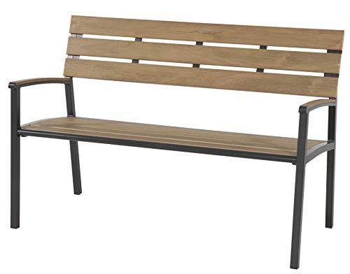 LLiving Bank Sitzbank Teak-Look Polywood max. Tragegewicht 200kg