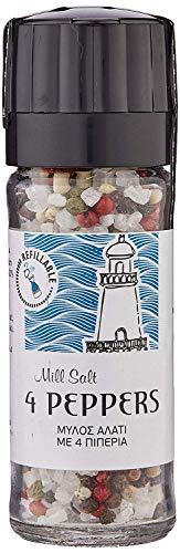 Biodinami Meersalz mit 4 Pfefferkörnern Mühle - Mill Salt with 4 Peppers 110g, 2 Stück