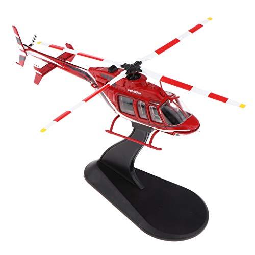 P Prettyia 1:72 Bell 407GX Modelo Avión de Combate de Juguete Helicó