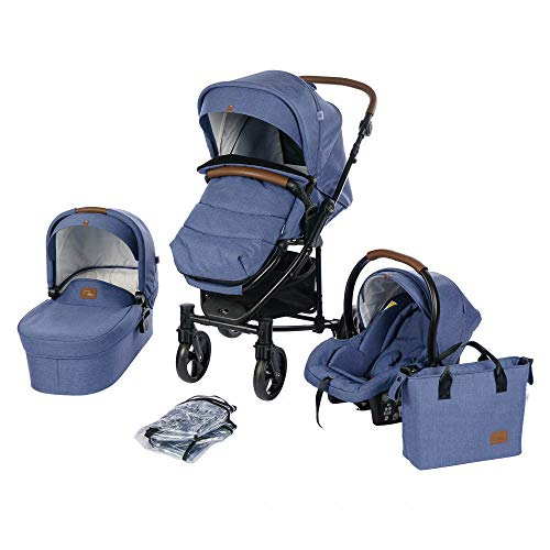 Roma Vita² Travel System Pram, Carry Cot and Car Seat Package - Blue