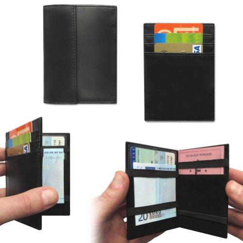 LCDG Portafoglio Magico Nero in Simili Cuoio - Magic Wallet - Porta Moneta