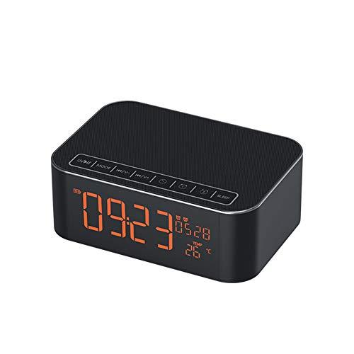 Y-SOUNDD Mini Bluetooth Lautsprecher Mit Echtzeit-Temperatur,Wecker Klingelton, Bluetooth Anruflautsprecher, Fm Radio AUX, TF-Karten-Eingang, Android, Microsoft, IOS