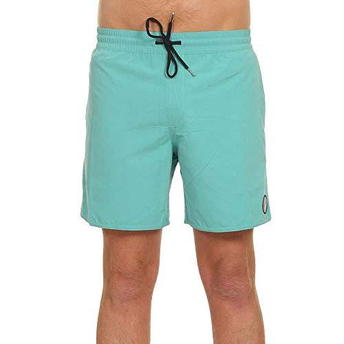 Volcom Lido Solid Trunk 16 - Costume da Bagno da Uomo, Uomo, Costume da Bagno a Pantaloncino, A2512005, Mysto Green, L