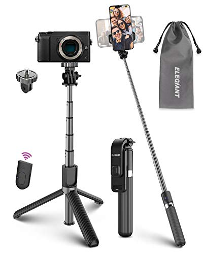 ELEGIANT Bastone Selfie Wireless, 4 in 1 Asta Selfie Stick Bluetooth con Treppiede per Camera Gopro 3,7-6,8 Pollici Cellulare...