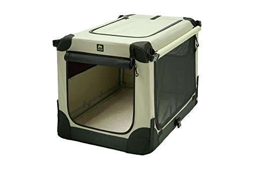 Maelson Soft Kennel faltbare Hundebox -beige - L 92 - (92 x 64 x 64 cm)