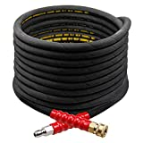 Twinkle Star 50FT Pressure Washer Hose with 3/8 Inch Quick Connect, High Tensile Wire Braided Power Washer Hose, 4000 PSI