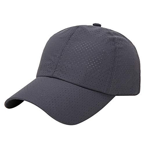 AIEOE Herren Kappe Damen Sonnen Cap mit All-Over Luftösen für Sport und Freizeit - Dunkelgrau
