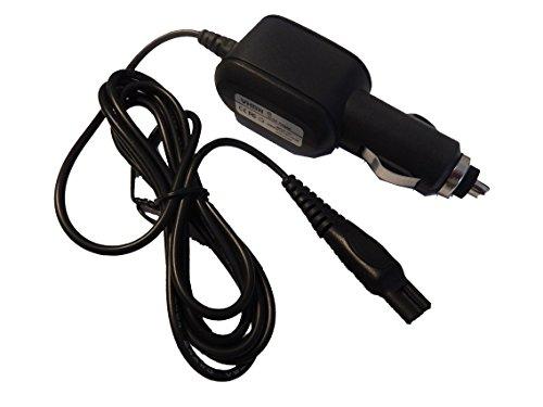 vhbw Cable de carga para coche compatible con Philips RQ1260/17, RQ1260/21, RQ1260/22, RQ1261/16, RQ1261/17 maquinilla afeitar - Cargador 12 V