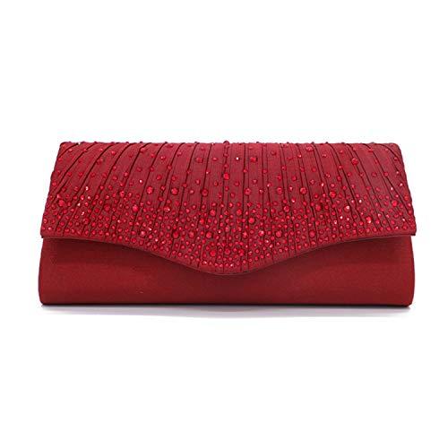 Carteras de mano y clutches para mujer Fiesta Bolso Cartera Bandolera de noche negro azul blanco plata roja