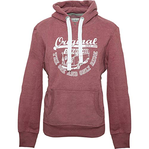 Van One Herren Hoodie Original Ride VW Bulli rot/Weiss - XL