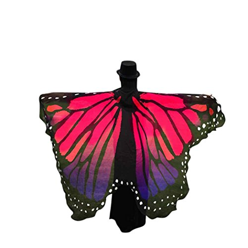 Cinnamou Disfraz Mariposa Mujer Disfraces Mujeres de Pavo Real Alas pañuelo