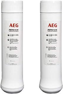 AEG AEGPPF Pré/Post-Filtre Eau Cartouches de filtration pour système d'osmoseur, Blanc (Lot de 2)
