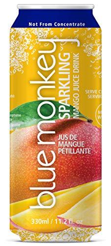 blue monkey Sparkling Juice, 55%, Mango, (Pack of 12)