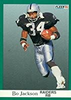 Bo Jackson Football Card (Los Angeles Raiders) 1991 Fleer #110