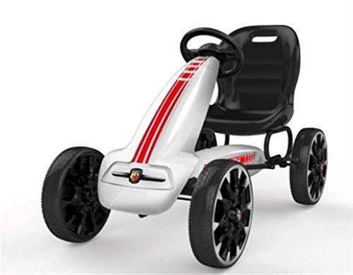 LGV Go Kart A Pedali per Bambini Modello Abarth con Freno E Frizione Bianco