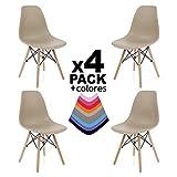 duehome - Nordik - Pack 4 sillas, Silla de Comedor, Salon, Cocina o...