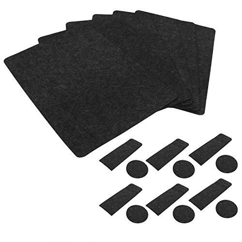 Germerse Tapete para Mesa Diseño Antideslizante Rendimiento Estable Buena Resistencia al Calor Mantel Individual Gris Oscuro para cocinas Familias