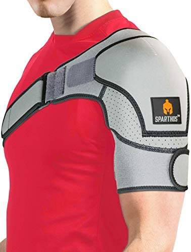 Sparthos Shoulder Brace Support and Compression Sleeve for Torn Rotator Cuff AC Joint Pain Relief product image