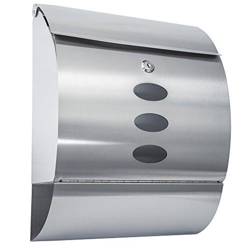 TecTake Edelstahl Briefkasten - Diverse Modelle - (Typ 2 | Nr. 400498)