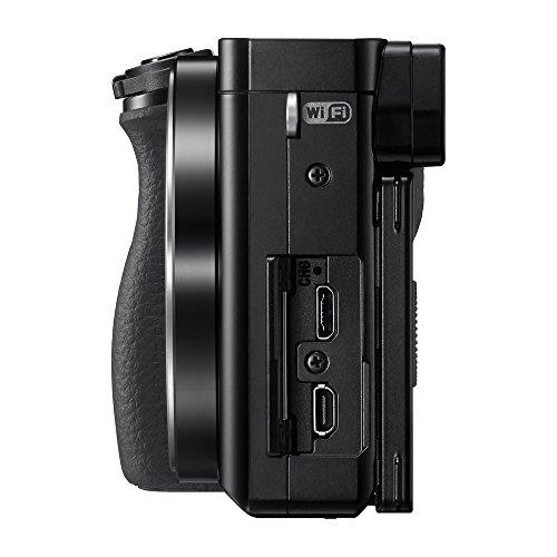 Sony Alpha ILCE 6000L 24.3 MP Mirrorless Digital SLR Camera with 16-50 mm (APS-C Sensor, Eye AF, Light Weight) - Black + SanDisk 128GB Extreme Pro SDXC UHS-I Card - C10, U3, V30, 4K UHD, SD Card