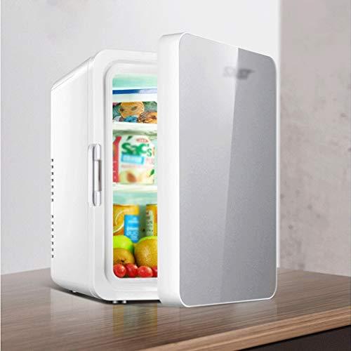 AMYAO Mini Nevera,Mini Fridge, Mini refrigerador del refrigerador más Caliente de 12 litros Refrigerador Compacto de Cristal Templado de una Puerta pequeña Chiller for la Seguridad del Coche