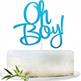 Glitter Blue Oh Boy Cake topper, Baby Shower Cake Topper for It'a A...