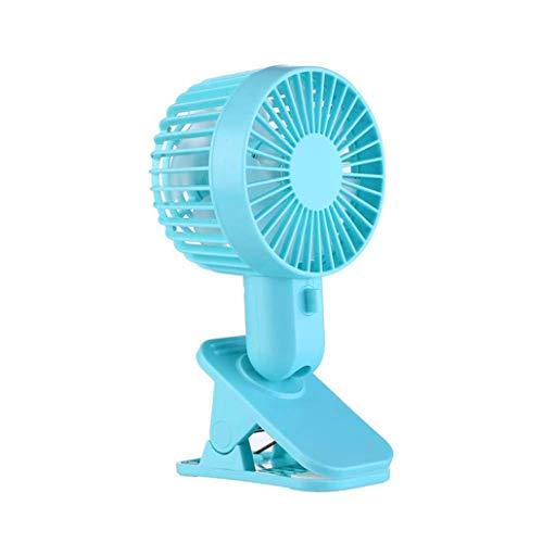 KZEN Clip Fan, USB Silenzioso Ventilatore da Tavolino, 2-Speed Adjustment velocità del Vento, 120 ° Regolazione Angolo, Doppio Ventilatore del Foglio Design, Mini Ventilatore,Blu