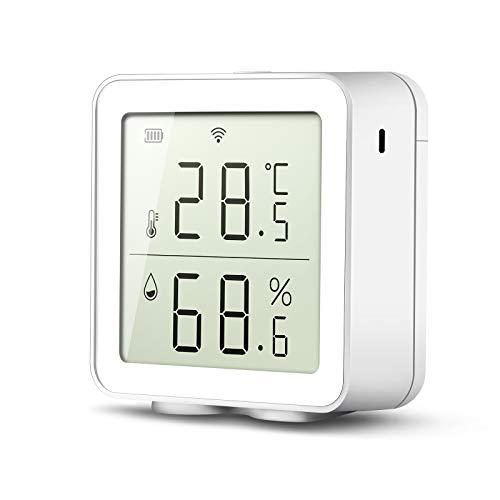 Smart Wlan Wifi Thermometer Hygrometer kompatibel mit Alexa Smart Life APP Digitale Temperatursensor Temperatur und Luftfeuchtigkeitsmesser 30 Tage Historische Aufzeichnung