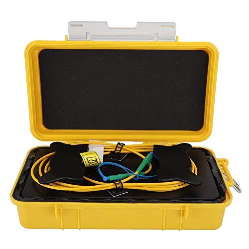 OTDR Launch Cable Box, Glasfaser OTDR Launch Cable Box Wasserdicht und schmutzabweisend 1000 m Dead Zone Eliminator Glasfaserring LC/APC-LC/APC Singlemode SM