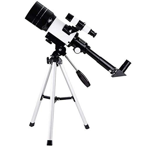 Qazxsw Astronomisches Teleskop Zoom HD Outdoor-Monokularraum-Teleskope tragbarer Refraktor-Spektiv mit Stativ für Kinder Anfänger