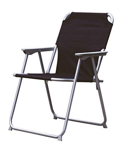 Spetebo Piccolo Klappstuhl in schwarz - praktisch und bequem - Ideal für unterwegs!