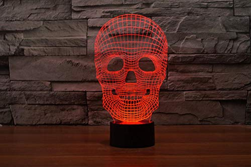 Optical Illusion 3D Lamp Fairy Illusion Lamp Spatula Rouge Table Desk Decor for Home Decoration Birthday Gifts for Girls Boys with USB Charging, Colorful Color Change