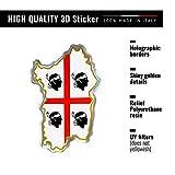 4R Quattroerre.it 32132 Adesivo 3D Stickers Sardegna HQ, 44 x 68 mm