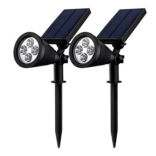 Mpow LED Proyector Solar, Luz de Jardín Brillante de 6 LED, 2 Modos de...