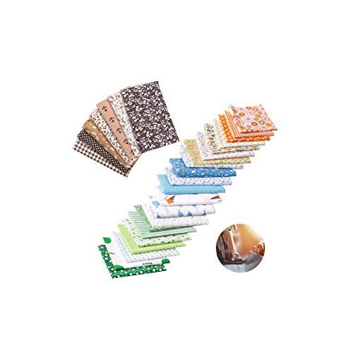 LATTCURE 28 Stück Muster Baumwollstoff Stoffpakete, Patchwork Stoffe Baumwolle Stoffreste Paket Stoffpakete DIY Baumwolltuch für Nähen und Heimwerken usw 25x24 cm