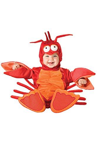 InCharacter Lil' Lobster Infant/Toddler Costume, Infant (12-18) Red