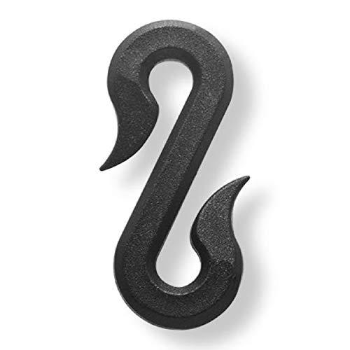 LONODIS Crochet S Noir 4 cm Anti-UV Spécial Filets - Sachet de 100